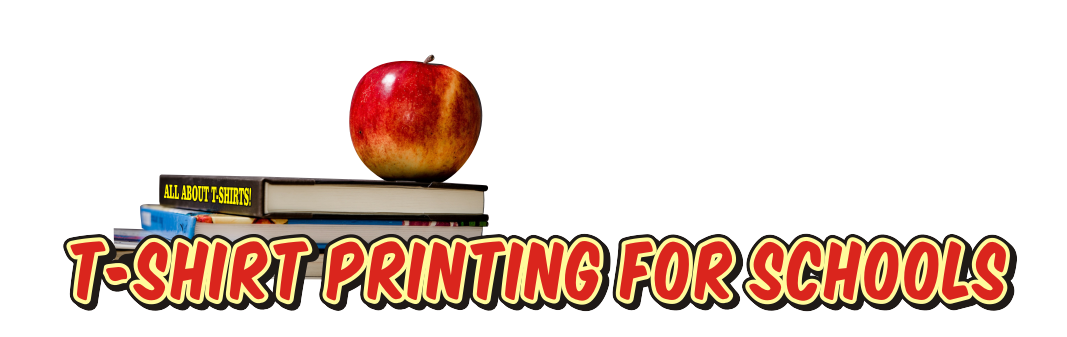 Custom printed T-shirts for schools