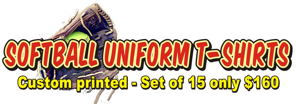 softball uniform t-shirts