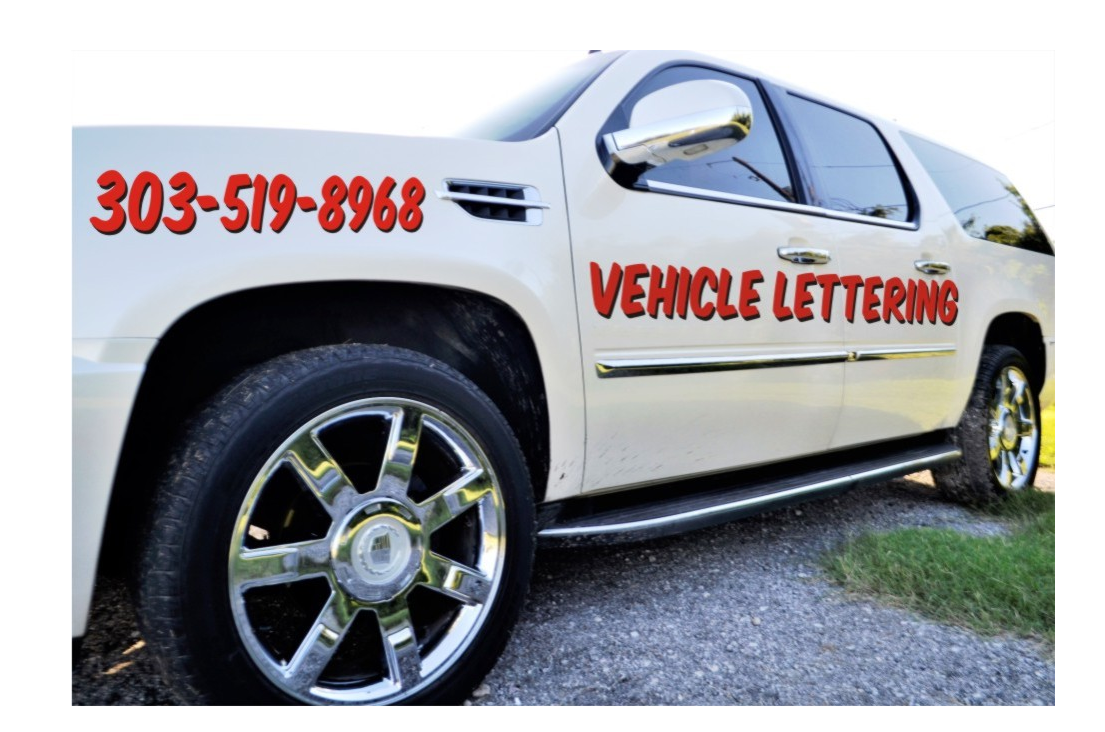 Custom vehicle lettering car and truck