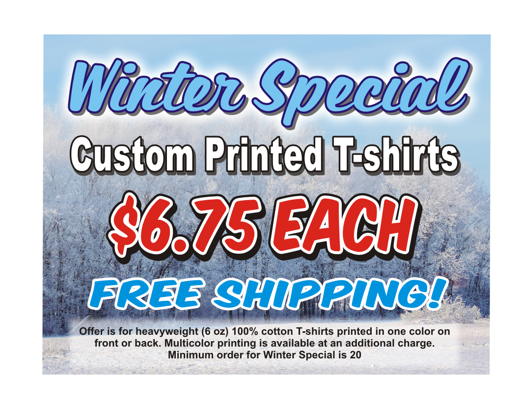 winter special - custom printed t-shirts
